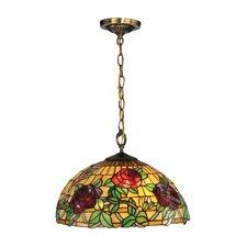 Rosewood Tiffany 1 Light Mini Pendant