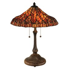 """Lotus 24"""" Table Lamp with Empire Shade"""