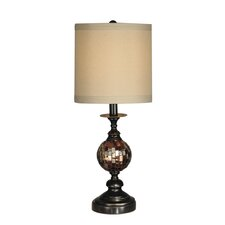 "Mosaic Ball 22.5"" H Table Lamp with Drum Shade"