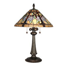 """Floral Branch Tiffany 26"""" H Table Lamp with Empire Shade"""