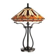 """Harp Tiffany 24.5"""" H Table Lamp with Empire Shade"""