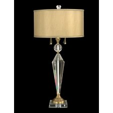 "Strada Crystal 32.75"" H Table Lamp with Drum Shade"