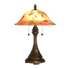 """Tropical Sun 22.5"""" H Table Lamp with Bowl Shade"""