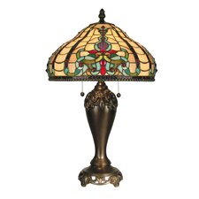 """Topaz Baroque 27"""" Table Lamp with Bowl Shade"""