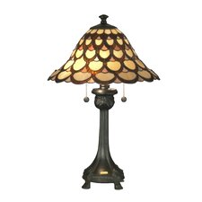"""Peacock 24"""" Table Lamp with Bell Shade"""