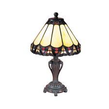 """Peacock Accent 13..5"""" H Table Lamp with Empire Shade"""