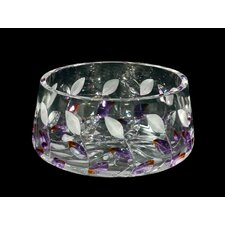 <strong>Dale Tiffany</strong> Lavender Leaf Crystal Bowl