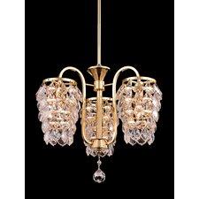 Abbey 3 Light Crystal Chandelier