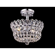 <strong>Dale Tiffany</strong> Mckinney 2 Light Semi Flush Mount