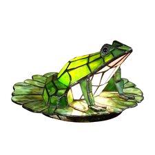 "Tiffany Frog Lily Pad 7.5"" H Table Lamp"