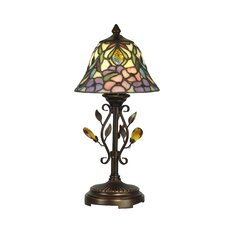 "Crystal Peony 15.25"" H Table Lamp with Bell Shade"