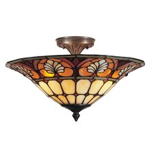 Dylan Tiffany 3 Light Flush Mount