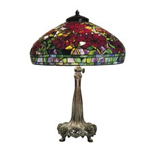 <strong>Dale Tiffany</strong> Peony 3 Light Table Lamp