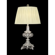 "26"" H 1 Light Crystal Table Lamp"