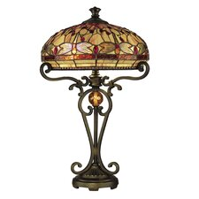 <strong>Dale Tiffany</strong> Dragonfly 2 Light Table Lamp