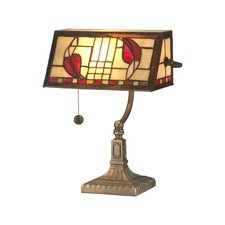 <strong>Dale Tiffany</strong> Henderson Bankers 1 Light Table Lamp