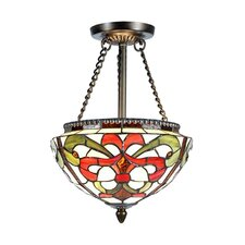 <strong>Dale Tiffany</strong> Baroque 2 Light Semi-Flush Mount