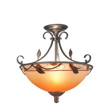 Garden Leaf Semi Flush Mount