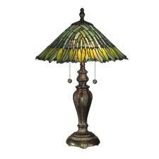 "Floral Leavesley 24"" H Table Lamp with Empire Shade"