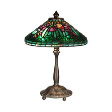 <strong>Dale Tiffany</strong> Poppy Shade 2 Light Table Lamp