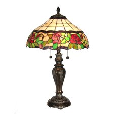 Floral Rose 2 Light Table Lamp