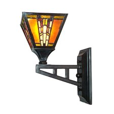 Amber Monarch 1 Light Wall Sconce