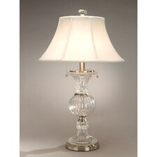 "Crystal Granada 28"" H Table Lamp with Empire Shade"