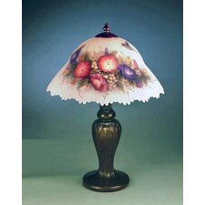 """Glynda Turley Hummingbird and Flower 19"""" H Table Lamp with Bowl Shade"""