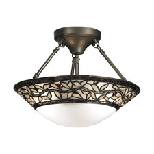 <strong>Dale Tiffany</strong> Cyprus Oaks 2 Light Semi-Flush Mount