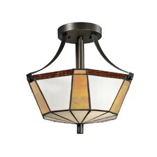 <strong>Dale Tiffany</strong> Visalia 2 Light Semi-Flush Mount