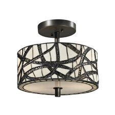 Willow Cottage 2 Light Semi-Flush Mount