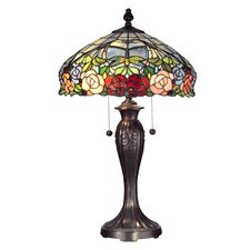 "Zenia Rose 27"" H Table Lamp with Bowl Shade"
