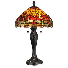 "Reves Dragonfly 27"" H Table Lamp with Bowl Shade"