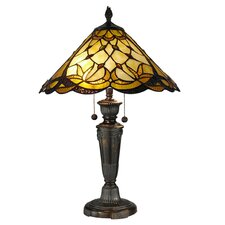 <strong>Dale Tiffany</strong> Villoria 2 Light Table Lamp