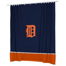 MLB Polyester Sidelines Shower Curtain