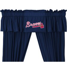 MLB Rod Pocket Tailored Curtain Valance