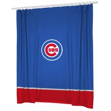 MLB Chicago Cubs Polyester Sidelines Shower Curtain