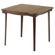 Scalloped Edge Wood Folding Card Table in Fruitwood