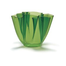 Cartoccio Vase Clear Glass in Green