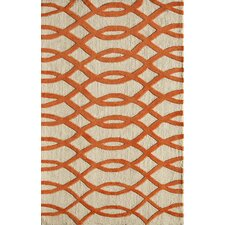 <strong>Rugs America</strong> Gramercy Wavy Orange Rug
