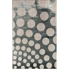 Ambrose Blue Spheres Area Rug
