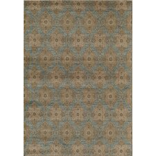 Rallye Light Blue Ikat Rug