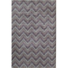 Tahoe Multi color Chevron Lilac Rug