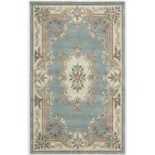 New Aubusson Light Green Rug