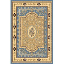 New Vision Light Blue French Aubusson Rug