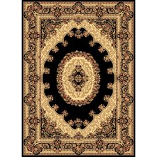 New Vision Black Kerman Rug