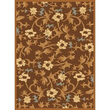 Torino Brown Bouquet Rug