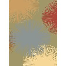 <strong>Rugs America</strong> Torino Light Green Fireworks Rug
