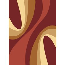 Torino Red Swirls Rug