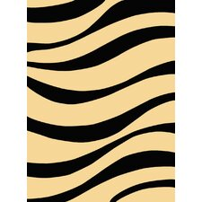 Torino Black Waves Rug
